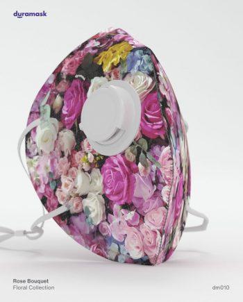 Duramask-DM010-Rose-Bouquet-KN95-Designer-Mask-with-Valve-No-Logo