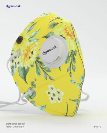 Duramask-DM012-Sunflower-Yellow-KN95-Designer-Mask-with-Valve