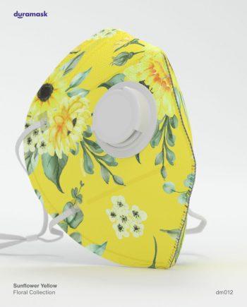 Duramask-DM012-Sunflower-Yellow-KN95-Designer-Mask-with-Valve-No-Logo
