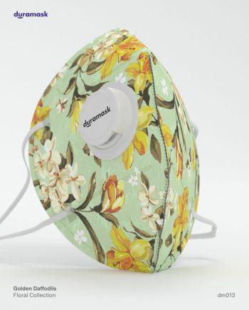 Duramask-DM013-Golden Daffodils-KN95-Designer-Mask-with-Valve