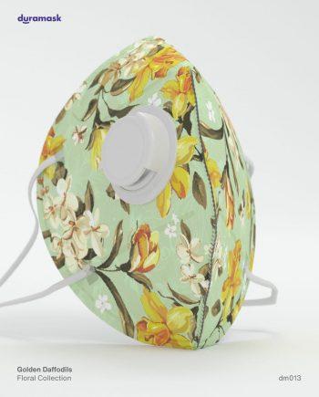 Duramask-DM013-Golden-Daffodils-KN95-Designer-Mask-with-Valve-No-Logo