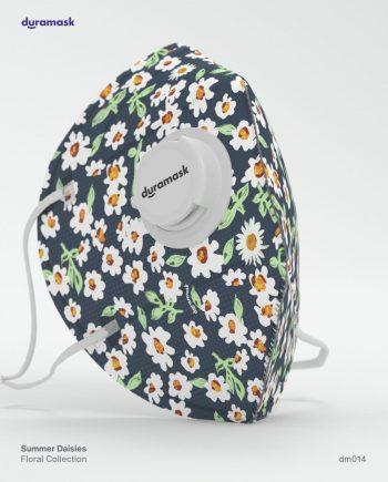 Duramask-DM014-Summer-Daisies-KN95-Designer-Mask-with-Valve