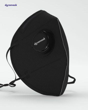 Duramask-DM017-Jet-Black-KN95-Designer-Mask-with-Valve