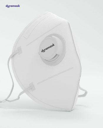 Duramask-DM018-Pure-White-KN95-Designer-Mask-with-Valve