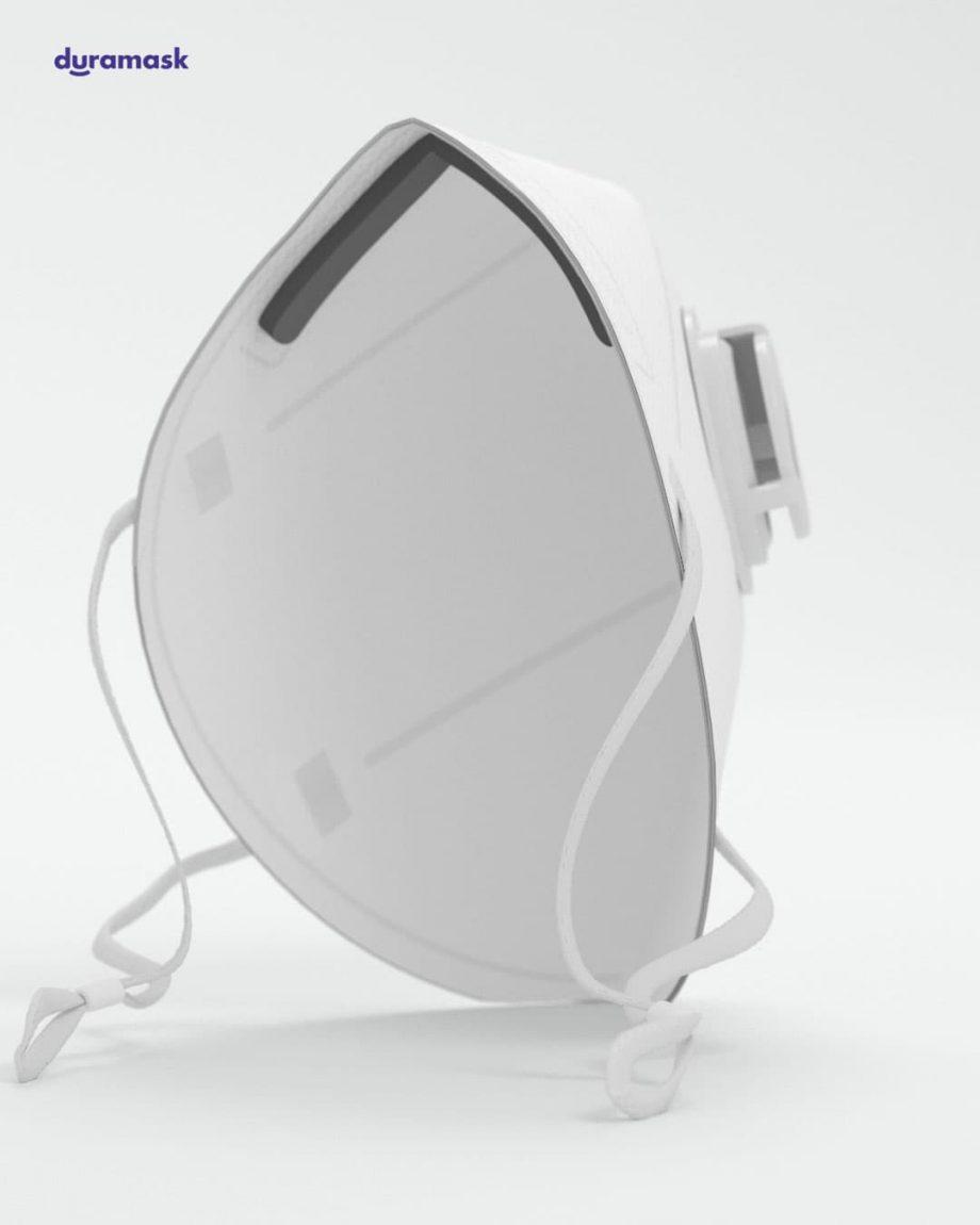 Duramask-DM018-Pure-White-KN95-Designer-Mask-with-Valve-Black