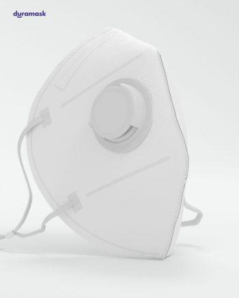 Duramask-DM018-Pure-White-KN95-Designer-Mask-with-Valve-No-Logo