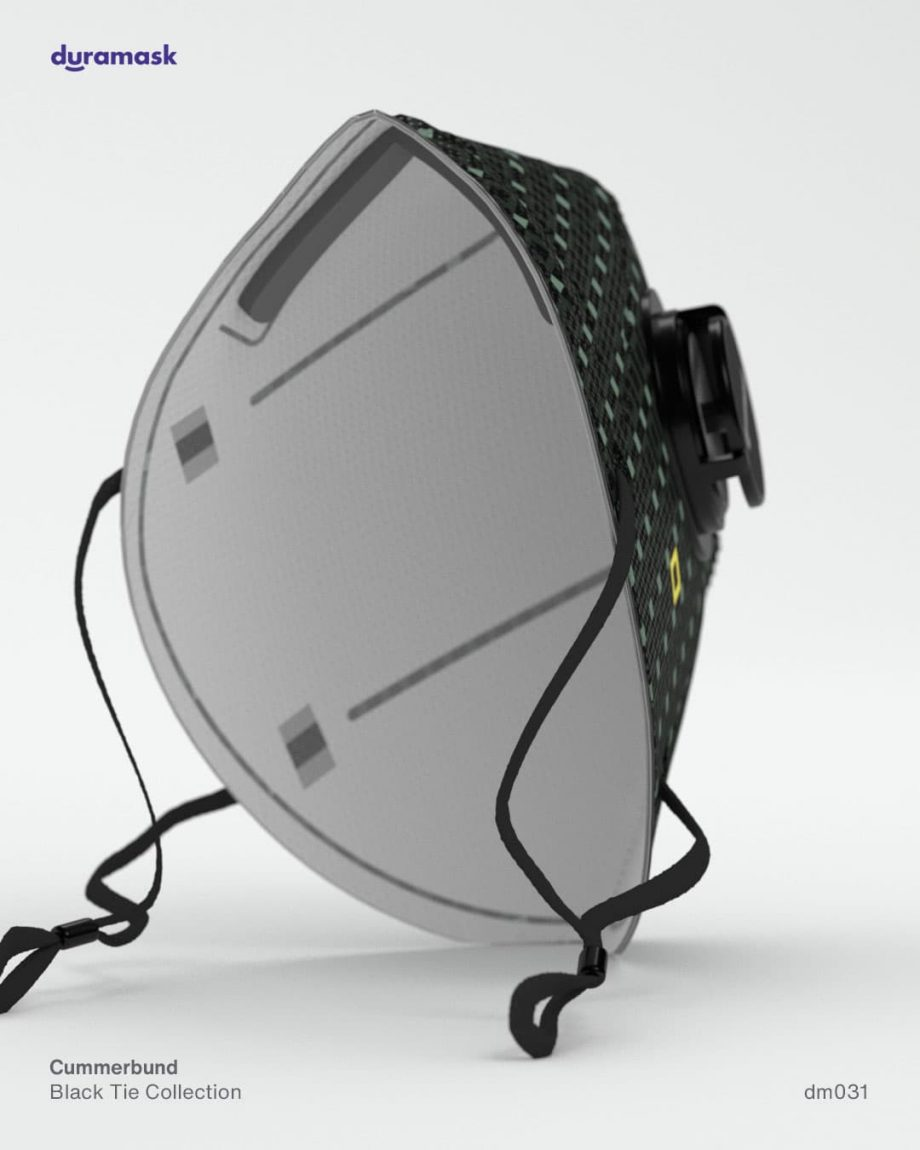 Duramask-DM031-Cummerbund-KN95-Designer-Mask-with-Valve-back