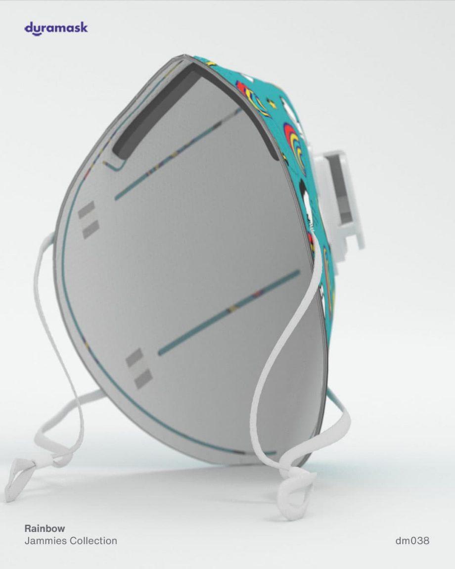 Duramask-DM038-Rainbow-KN95-Designer-Mask-with-Valve-back